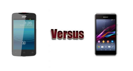 Acer Liquid Z3 vs Sony Xperia E1