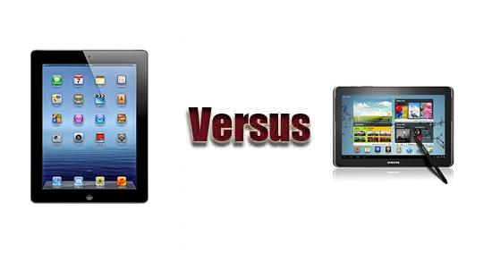 Apple iPad 3 versus Samsung Galaxy Note 10.1