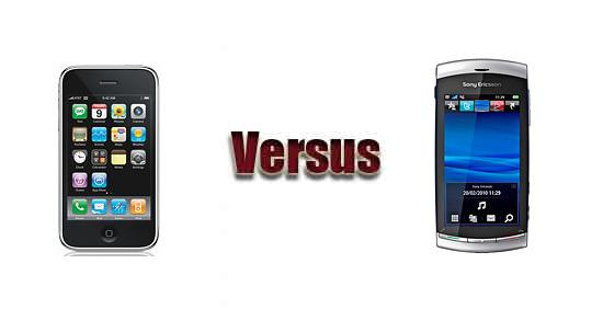 Apple iPhone 3G versus Sony Ericsson Vivaz