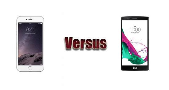 Apple iPhone 6 Plus versus LG G4