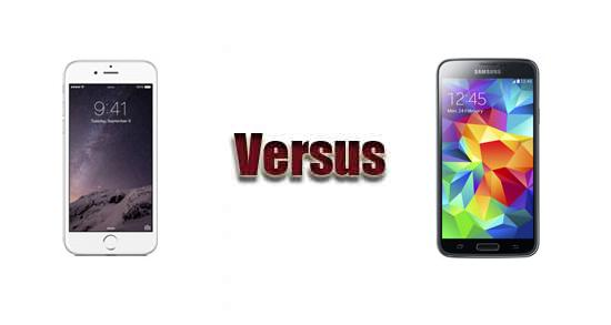Apple iPhone 6 versus Samsung Galaxy S5