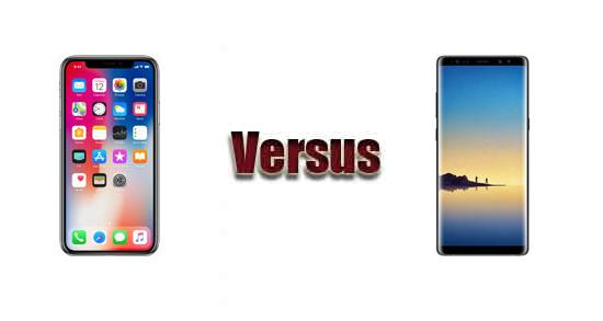 Apple iPhone X versus Samsung Galaxy Note8