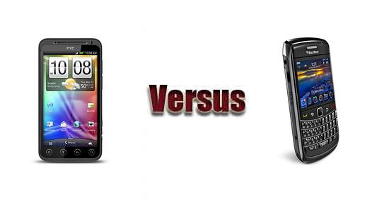 HTC EVO 3D versus BlackBerry Bold 9780