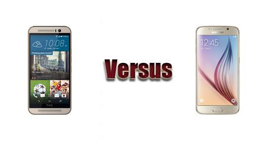 HTC One M9 versus Samsung Galaxy S6