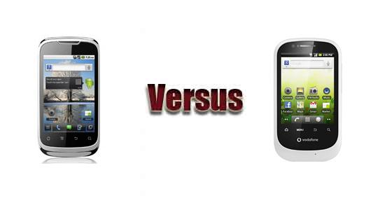 Huawei U8650 versus Vodafone Smart 858