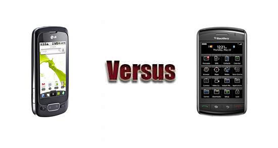 LG Optimus One P500 versus BlackBerry 9530 Storm