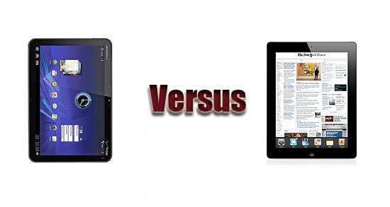 Motorola XOOM vs Apple iPad 2 Wi-Fi + 3G