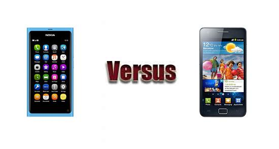Nokia N9 versus Samsung Galaxy S II i9100