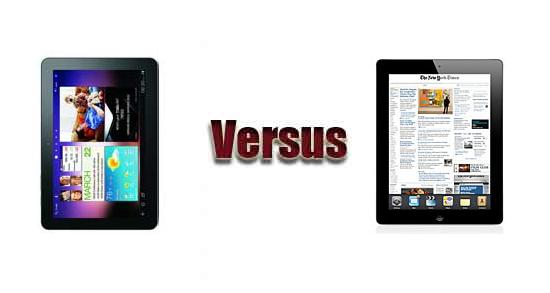 Samsung GALAXY Tab 10.1 versus Apple iPad 2 Wi-Fi + 3G