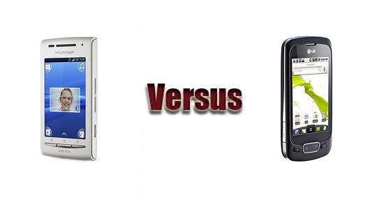 Sony Ericsson XPERIA X8 vs LG Optimus One P500