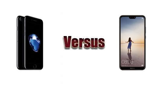 iphone 7 vs huawei p20 lite