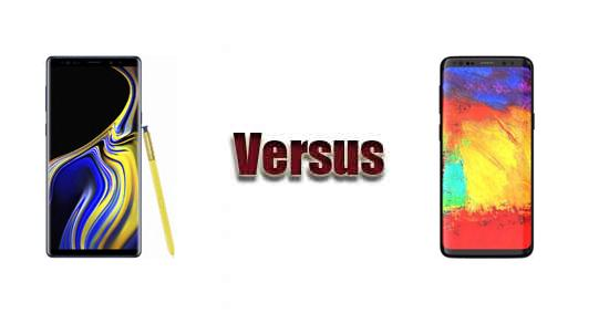 Samsung Galaxy Note 9 vs Samsung Galaxy S9+
